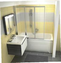 inspiration f r kleine b der ravak at. Black Bedroom Furniture Sets. Home Design Ideas