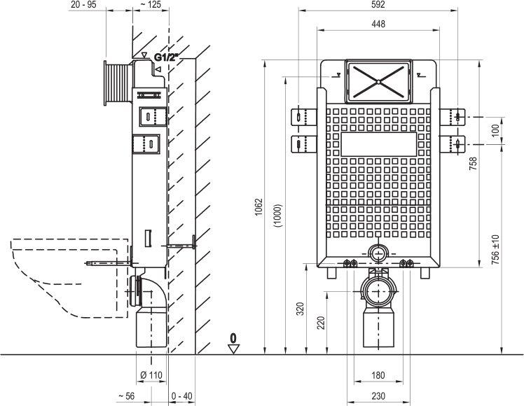 wc unterputzsp lkasten w ravak at. Black Bedroom Furniture Sets. Home Design Ideas